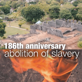 Dany Marie on the 186th commemoration of abolition of slavery in Mauritius